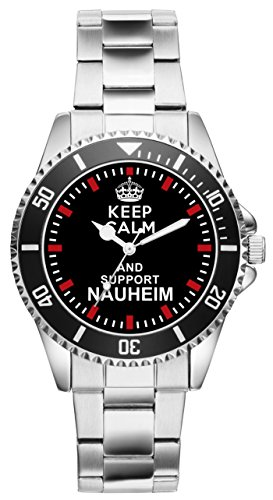 Keep Calm and support baños termales de agua salada - 2081 - reloj de pulsera reloj