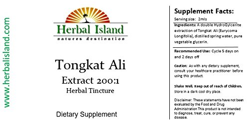 Tongkat Ali 200:1 Liquid Extract 4oz or 120ml (Pasak bumi) Longjack Free Shipping
