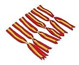 Cinta España Pack de 6 Cintas para Colgar en el Retrovisor del Coche Adorno Colgante Espejo Automovil Colores Amarillo y Rojo Colores de la Bandera de España