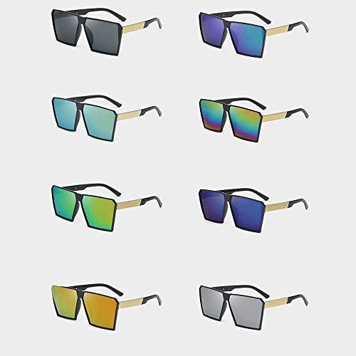 A-myt Personalidad, Chic Gafas de Sol Anti-Ultravioleta Señoras Vidrios de Rana Americanos NUEVOS Gafas de Sol Gafas de Sol Proteja los Ojos del daño (Color : Burst)
