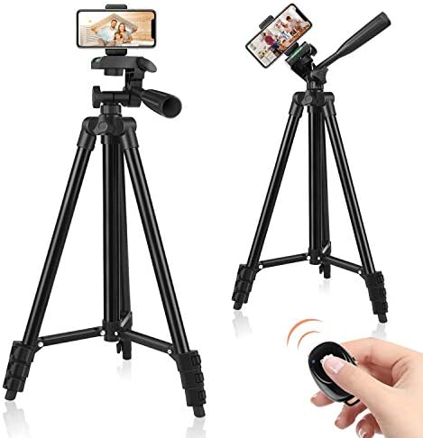 60 Phone Tripod Tripod for iPhone with Remote Shutter and Universal Clip Compatible with iPhone product image