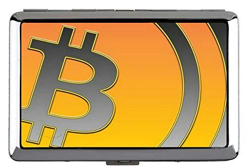 Silber Metall Zigarettenetui, Dollar Bitcoin Papier Dollar Professionelle Visitenkartenetui