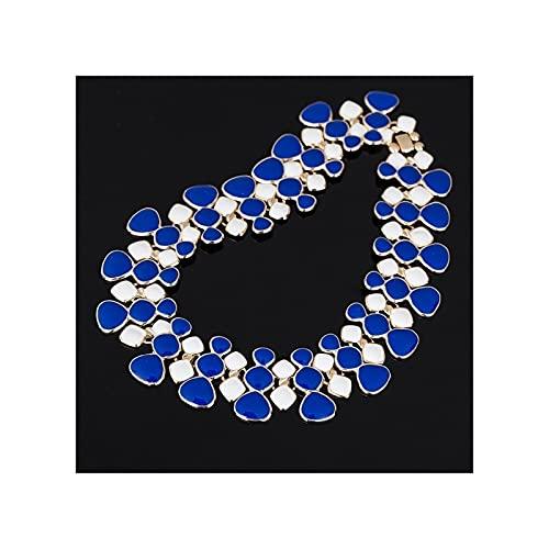 RXDZ Nuevo diseño Moda Gargantilla Collar Corto Popular Gran Colgante Cadena de clavícula Delicada Joyería de Banquete (Color : 8)