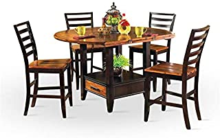 Abaco Two-Tone Cordovan Cherry 5-Piece Counter Height Dining Set