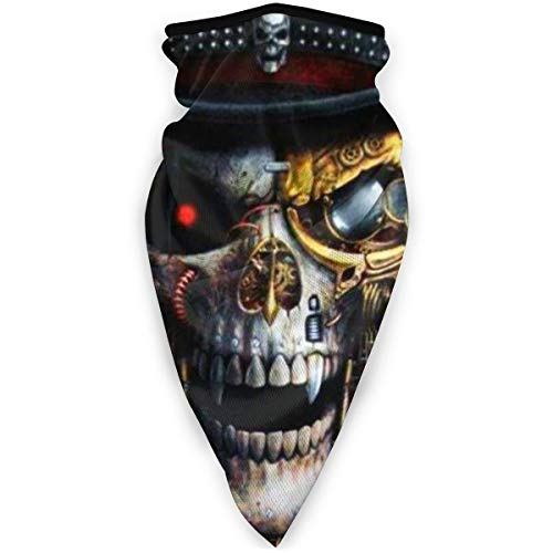 Steampunk Skull Neck Gaiters Dust Face Mask Bandana Balaclava for Outdoor Scarf