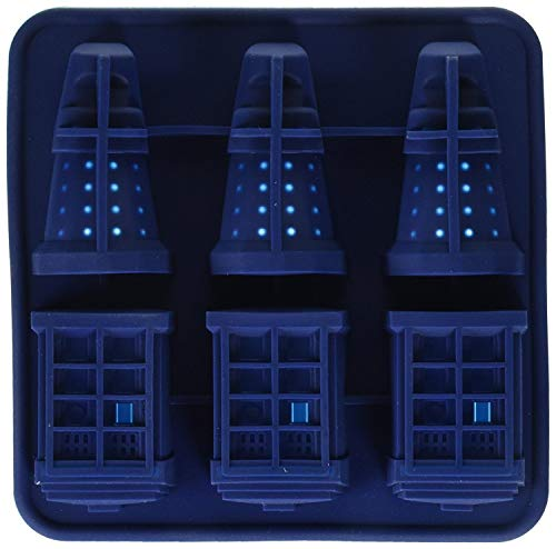 PULABO Doctor Who Silicone Ice Cube Tray Tardis & Daleks Durable and Practical Convenient