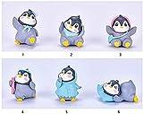 TBNB Figura en Miniatura de pingüino de Primavera, Juguetes de Personajes de pingüino Kawaii, Figuras Polares, Adornos para Tartas, micropaisaje