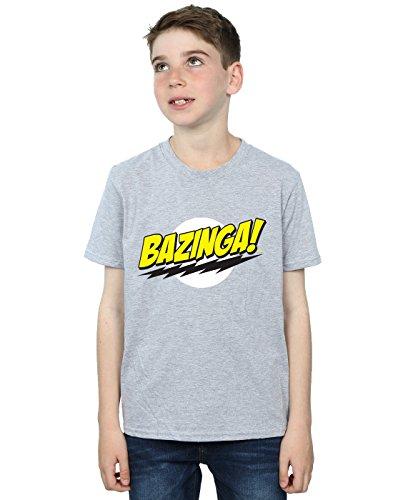 The Big Bang Theory Jungen Sheldon Bazinga T-Shirt Sport Grau 12-13 Years