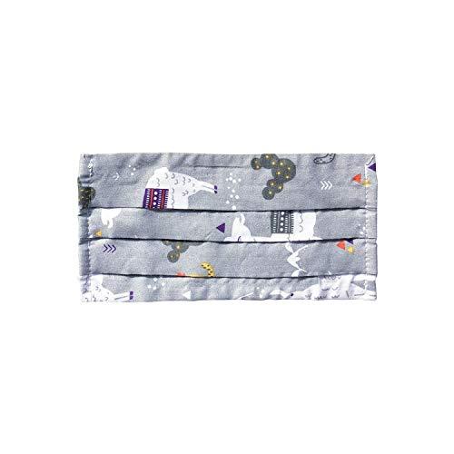 Mundschutz Maske, Kälteschutz Gesichtsmaske, Staubdichte Mäske, Anti-Beschlag Anti-Staub Maske für Radfahren, hergestellt in der EU (3, Llama/Grey)