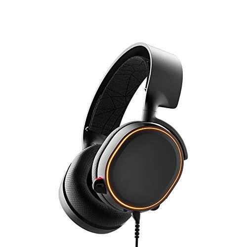FGFGN spel-headset voor PS4 3,5 mm stereokop-gaming headset, professionele 7.1-poorts E-Sport, Coole RGB-lichteffecten, compatibel met pc, MAC, mobiele telefoon, PS4-console en andere platforms., size, zwart