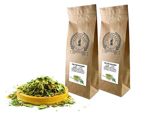 Kräuter Tee für Raucher 2x200g von KLOSTER KUR mit Lungenkraut Königskerze Blüten Huflattich