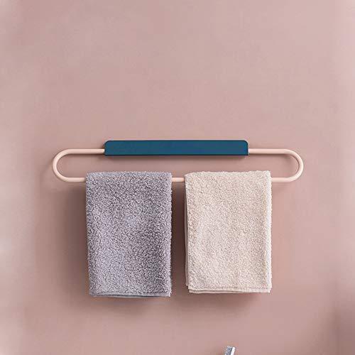 Toalla de Toalla, Tipo de Ventosa, sin perforación, sin Seguimiento de adsorción, Barra de Toallas, Bastidor de Toallas de baño (Color : Blue)