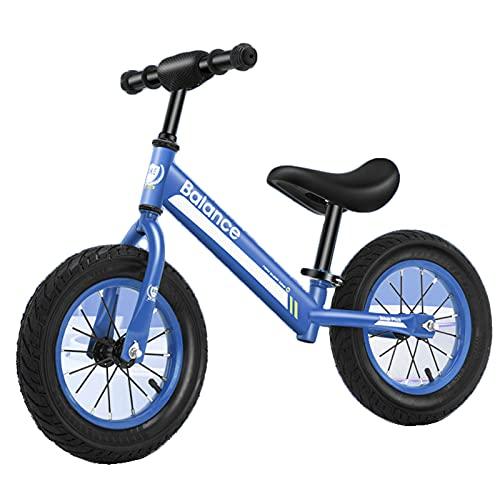 HLEZ Bicicleta Sin Pedales con Manillar Y Sillín Ajustables Correpasillos para Equilibrio Ideal para Niños De 2 A 6 Años (Máximo 30 Kg),Azul