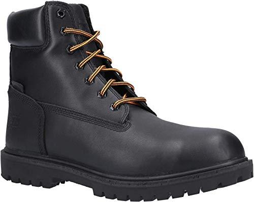 Timberland Pro Botas de seguridad con cordones de cuero icónico para hombre, color Negro, talla 46 EU