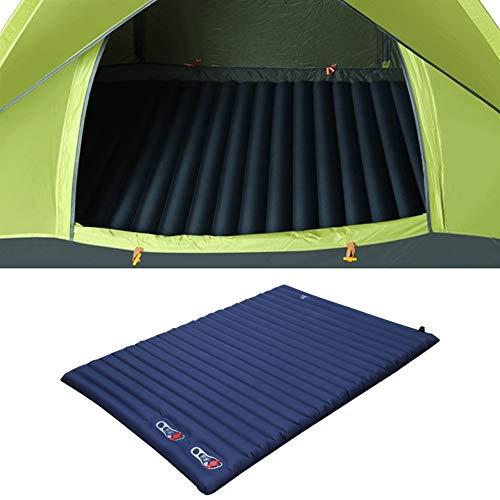 Generic Brands Picknickdecke Picknick-Grill Aufblasbare Kissen Eingebaute Luftpumpe Isomatte automatische aufblasbare Doppelmatratze 220 * 142cm (Farbe : Blue)