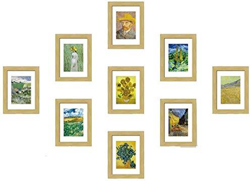 WYJW Nordic decoratief schilderij 9 7 inch 10 inch fotolijst combinatie fotowand negen vierkanten