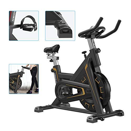 Bicicleta estática para casa, bicicleta de spinning, resistencia ajustable, sillín ajustable, carga máxima de 150 kg, robusta y funcional