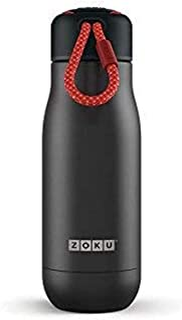 Zoku Stainless Steel Water Bottle 12-Ounce; Matte Black;...