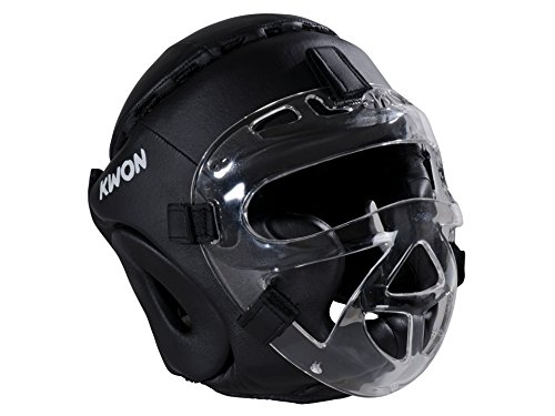 Kwon® Kopfschutz Fight XL CE Helm mit + Gesichtsmaske Visier Boxen Krav MAGA Kopfschützer