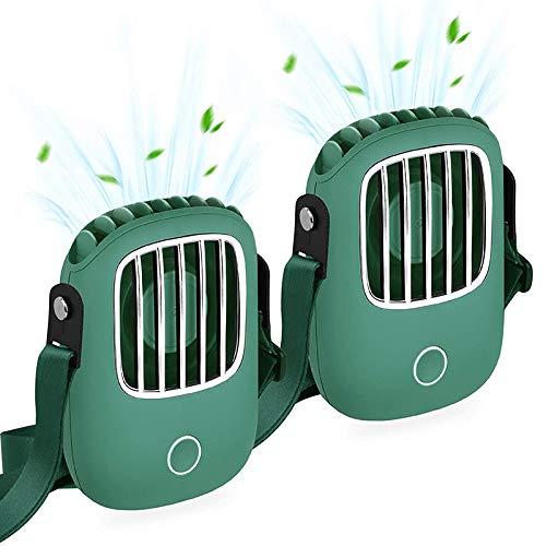 GIDKHHUI Ventilador PortáTil, Ventilador de Mano Recargable USB PequeeOs Ventiladores de Cuello con Pilas Personales Manos Libres