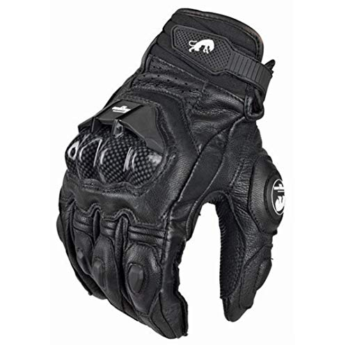 All Season Leather Motorcycle Gloves Profession Riding Motorbike Cycling Carbon Fiber Protective...