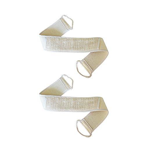AISHNA - Esponja de luffa, 2 unidades, esponja natural de luffa, almohadilla corporal para ducha, baño, cuerpo y cara, cuidado de la piel y exfoliación