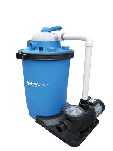 Steinbach Speed Clean Premium 100 Doppelstufenfilteranlage, Umwälzleistung 14 m³/h, 230 V/900 Watt, Anschluss DA 50, 040081