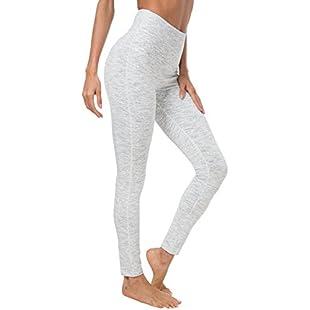 Queenie Ke Women Yoga Legging Power Flex High Waist Running Pants Workout Tights Size S Color Space Dye White