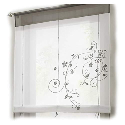 Fliyeong - Cortina de decoración para el hogar, Cocina, Ventana, Gris, 80 x 100 cm