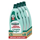Sanytol Limpiahogar - Limpiador Desinfectante, Elimina Bacterias y Malos Olores, sin Lejía - Pack...