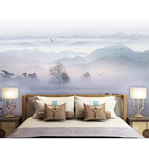 Papel pintado de pared de lujo moda Tinta Paisaje TV Sofá fondo pared papel pintado 250 x 160 cm