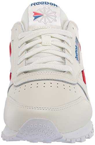 Reebok Women's Classic Leather Sneaker, Chalk/Vector Red/Vector Blue, Numeric_8_Point_5