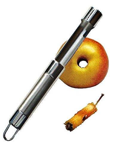 PRESENT Vide-Pommes en Acier INOX - Evideur de Pommes - Dénoyauteur de Fruits