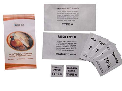 Tear Aid tape– Kit di riparazione per stivali scafandro e articoli impermeabili, con toppe di tipo A & B