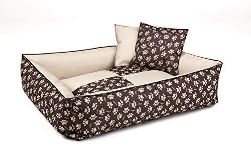 BedDog® 2en1 colchón para Perro MAX Quattro XXL Aprox. 120x85 cm, 8 Colores, Cama, sofá,Cesta para Perro, Marron/Beige