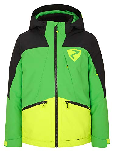 Ziener Jungen ASTARO Junior Kinder Skijacke, Winterjacke | Wasserdicht, Winddicht, Warm, Green, 140