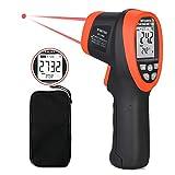 BTMETER BT-1500 Pyrometer 30:1 Industrial Laser Thermometer Gun, -58℉ to 2732℉ Non Contact High Temp Infrared Thermometer Digital IR Temperature Gauge (NOT for Human Temp Test) Orange