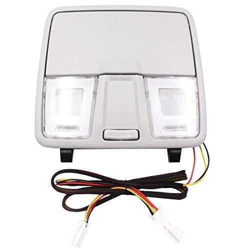 YZHUA Caja de la Consola de la luz de la luz del Techo del Coche Caja de la Caja de Las Gafas de luz para Hyundai Elantra GT i30 IX25 2012-2016 (Color : Gray)