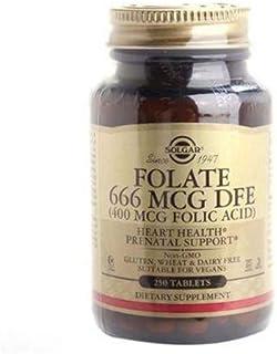 Folate, 666 mcg DFE, e Vitamin B9 (Folic Acid 400 mcg), 250 Tablets