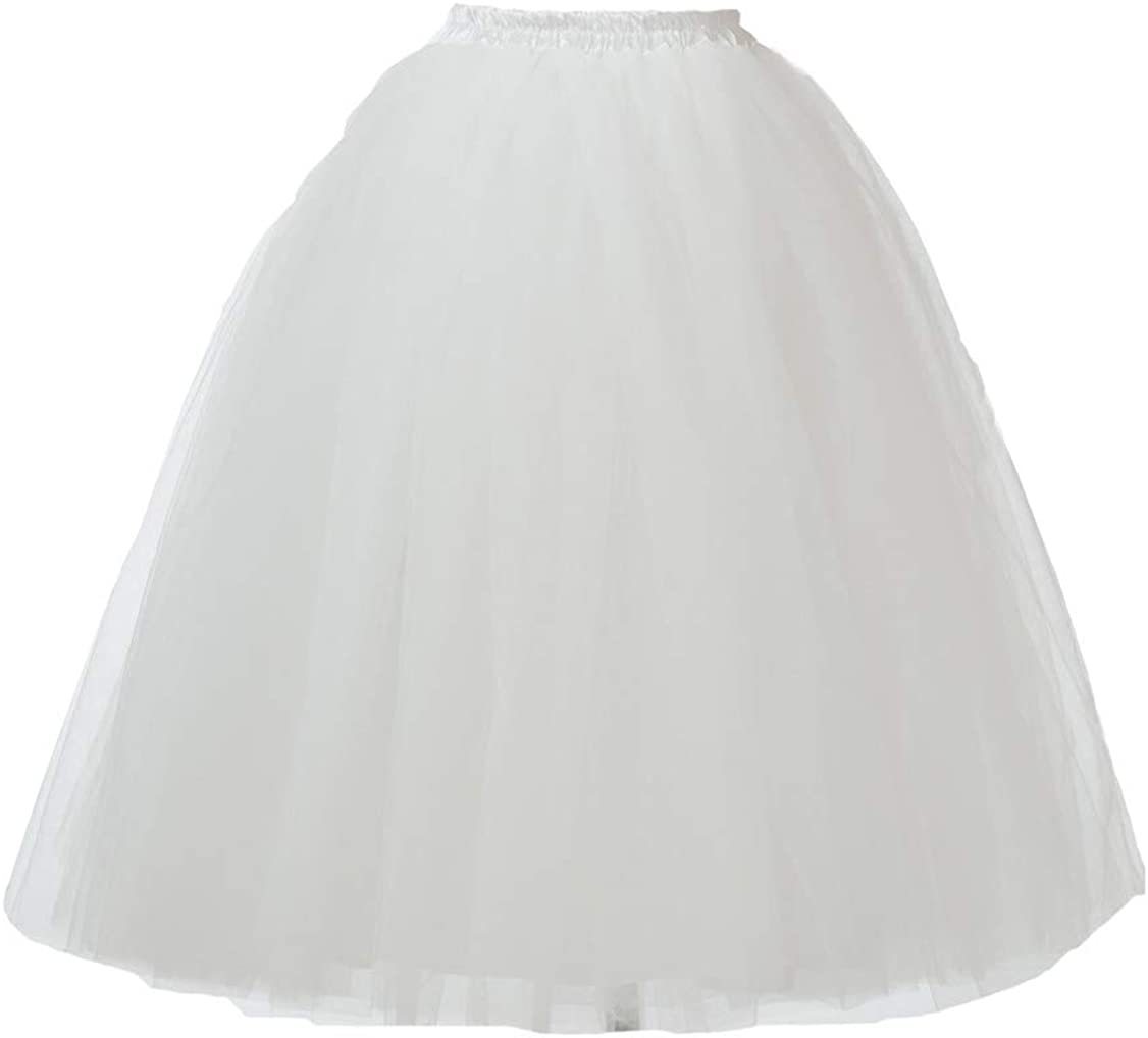 Honeystore Women's Long Ballet Topics Our shop OFFers the best service on TV Frilly Ruffle Multi-Layer Pettico