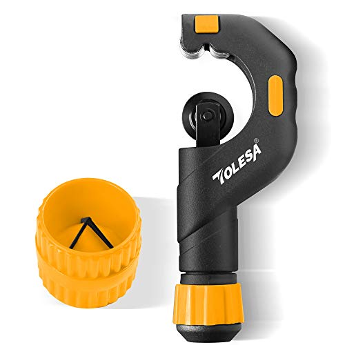 TOLESA Tube Cutter Set with 3/16 to 2 inch Pipe Cutter and Inner-Outer Reamer, for Aluminum, Copper, PVC and Thin Stainless Steel Tube