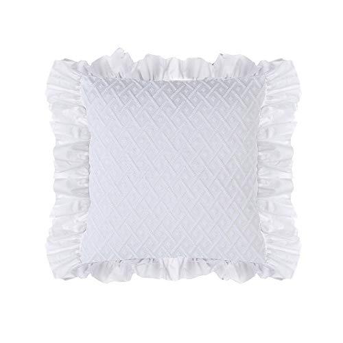 Blanc Mariclo Funda de cojín para sofá, 45 x 45 cm, color blanco, a2835299bi
