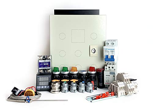 Powder Coating Oven Controller Kit w/Light & Fan Control, 240V 30A 7200W (KIT-PCO202)