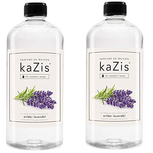 KAZIS I Duft-Set Wilder Lavendel I 2 x 1 Liter I Für Alle Katalytischen Lampen geeignet