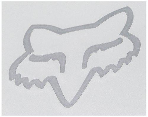 Fox Herren Head TDC-10,2 cm Aufkleber, Chrom, Einheitsgröße