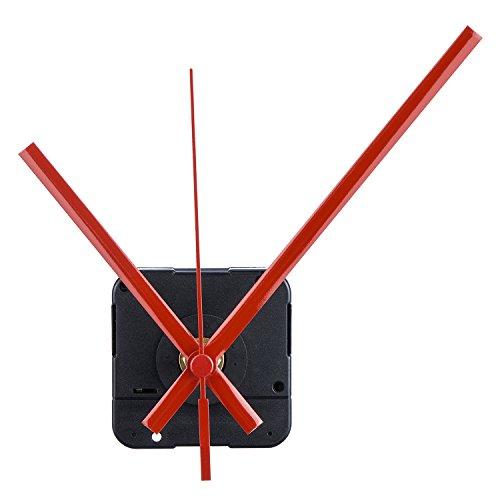 Mudder Lange Spindel Quarz Uhrwerk, Maximale Zifferblatte von 1/2Zolldick,Gesamtschaftlänge von 9/10 Zoll (Rot)