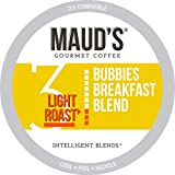 Maud's Breakfast Blend Coffee, (Bubbies Breakfast Blend), 100ct. Solar Energy Produced Recyclable Single Serve Breakfast Blend Coffee Pods, 100% Arabica Coffee California Roasted, KCup Compatible