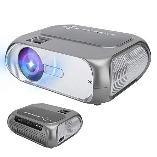 Vbestlife Mini proyector Inteligente, Cine en casa portátil HD 720P LCD, para reuniones de Oficina Familiar(EU)