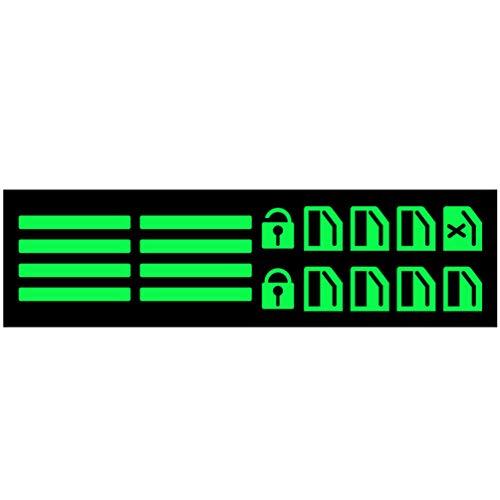 Wakauto 1 Juego de Botones de Interruptor de Ventana de Coche Pegatinas Fluorescentes Calcomanía de Llaves de Ventana de Automóvil para Decoración de Botón de Levantador de Gafas de