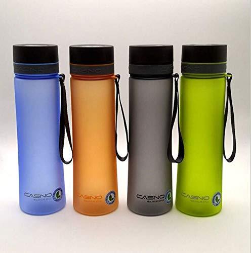 Fiesta Grande contenance 1000 ml Bouteille d'eau en plastique avec corde Portable Espace extérieur Bouteille randonnée Camping Voyage Bouteille gratuit BPA : 1000 ml, couleur aléatoire
